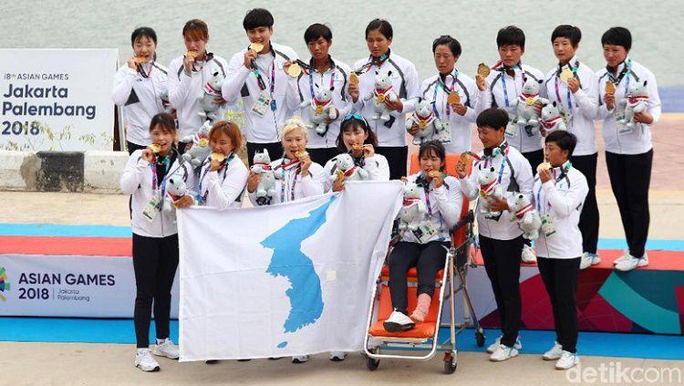 Tim Korea Bersatu berhasil merebut medali di cabang olahraga dayung Copyright: © detik sports