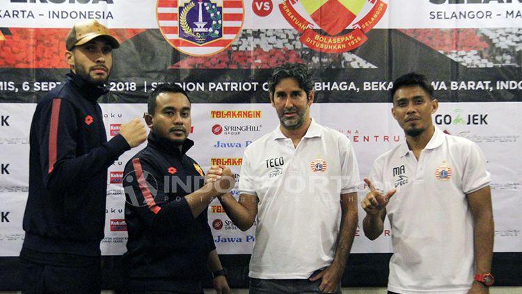 Konferensi Pers pertandingan persahabatan antara Persija Jakarta vs Selangor FA. Copyright: © INDOSPORT/Herry Ibrahim