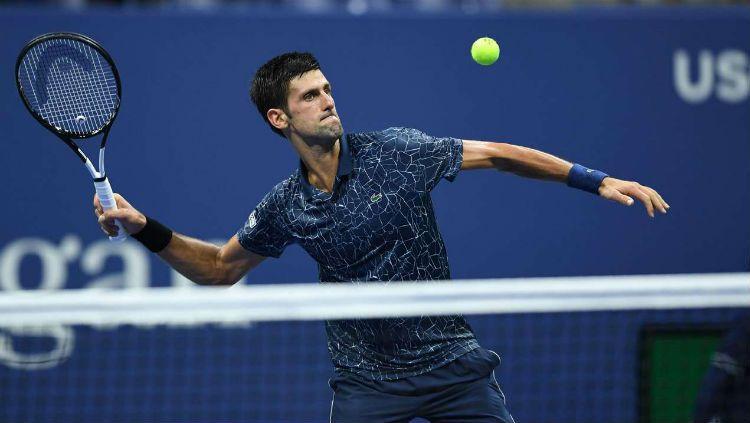 Novak Djokovic di US Open 2018. Copyright: © DNA India