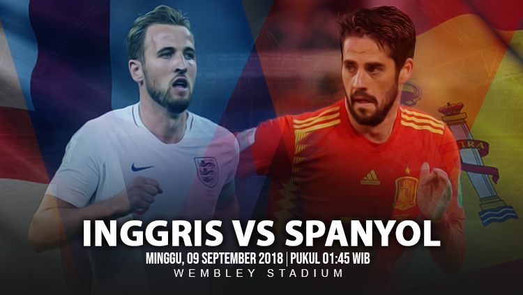 Inggris vs Spanyol. Copyright: © INDOSPORT