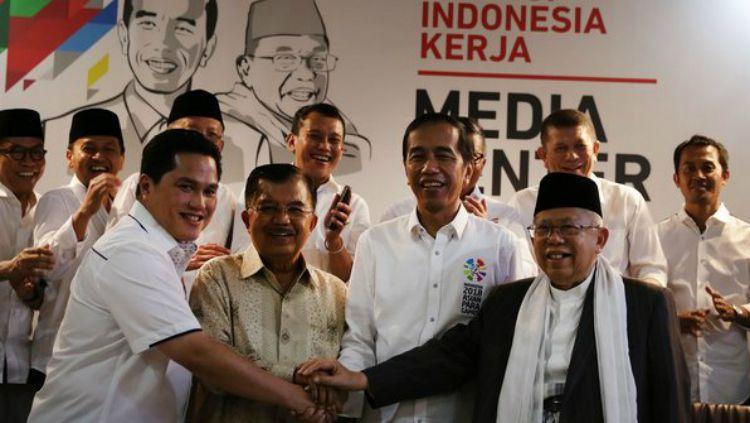 Erick thohir jadi Timses Jokowi-Ma'ruf Amin. Copyright: © merdeka.com