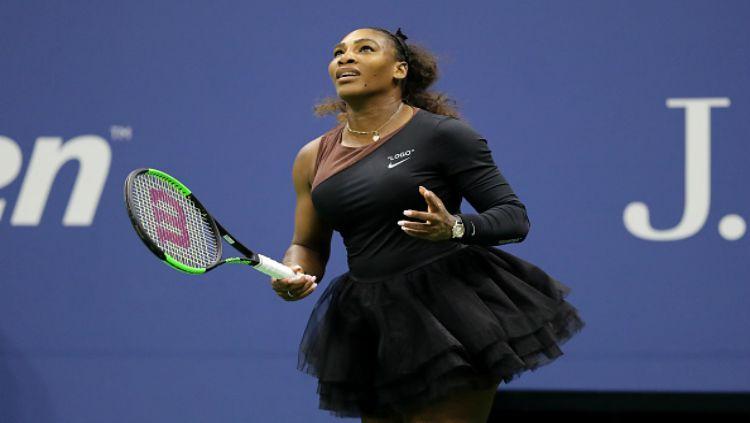 Serena Williams di final AS Terbuka 2018 melawan Naomi Osaka. Copyright: © Getty Images