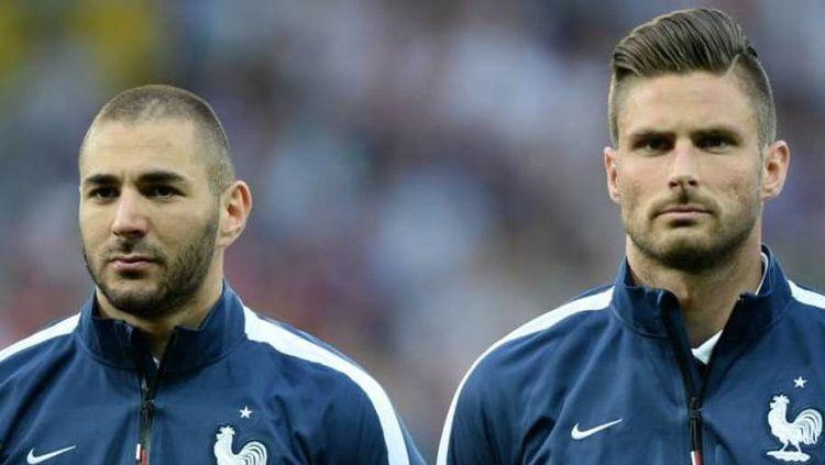 Bawa Timnas Prancis menangi Euro 2020, Olivier Giroud bakal ajak Karim Benzema main go-kart. Copyright: © footmercato