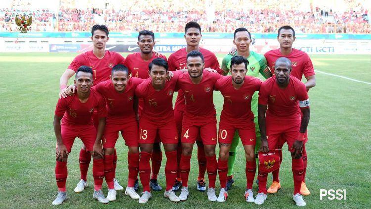 Skuat Timnas Indonesia saat hadapi Mauritius. Copyright: © PSSI