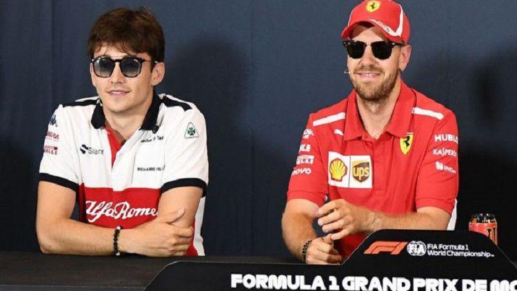 Sebastian Vettel lagi-lagi mengakui kehebatan rekannya di Ferrari, Charles Leclerc. Copyright: © PlanetF1