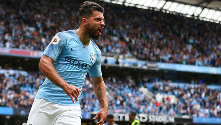 Sergio Aguero, striker Man City. Copyright: © Getty Images