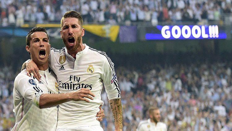 Cristiano Ronaldo dan Sergio Ramos batal jadi pemain legendaris raksasa LaLiga Spanyol, Real Madrid. Siapa sangka hal ini disebabkan oleh Florentino Perez. Copyright: © Mirror
