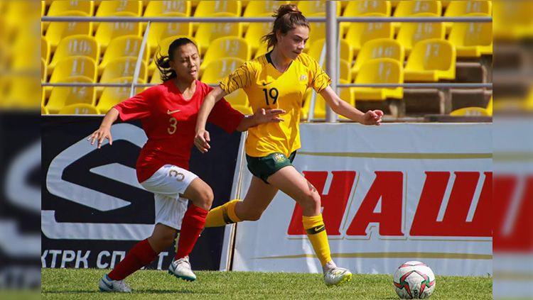 Timnas Putri U-16 vs Australia di Kualifikasi Piala Asia U-16 2018. Copyright: © Twitter/@_FFKR