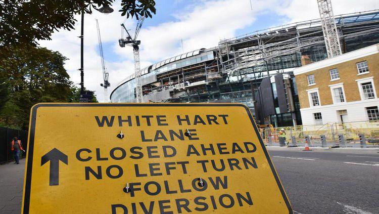 Stadion milik Tottenham Hotspur sedang dalam masa pembangunan. Copyright: © Alamy live news