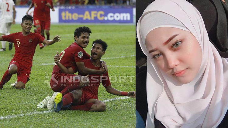 Artis Malaysia turut beri selamat terhadap kemenangan Timnas U-16 Copyright: © INDOSPORT/Arif Yahya