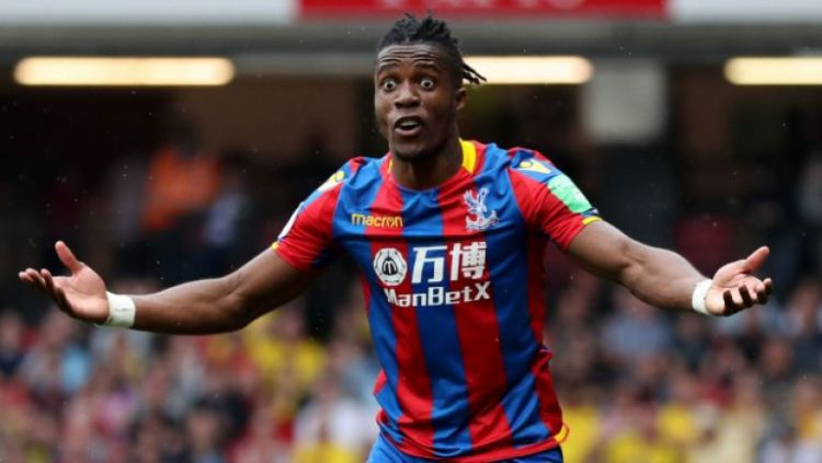Pemain Crystal Palace, Wilfried Zaha. Copyright: © JOE.co.uk