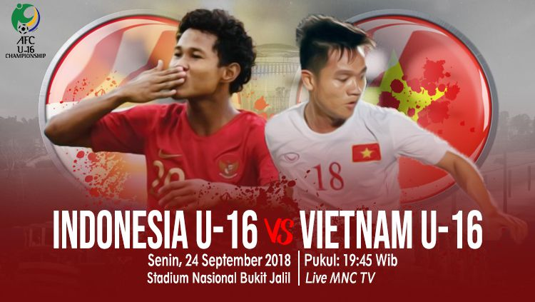 Indosport - Indonesia U-16 vs Vietnam U-16.