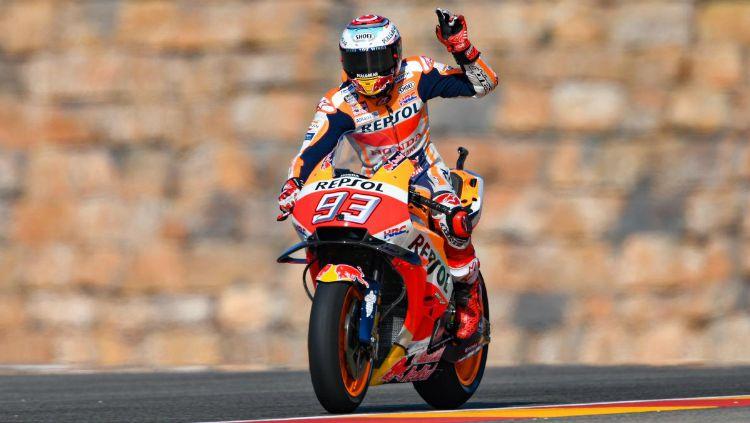 Marc Marquez juara MotoGP Aragon 2018. Copyright: © Twitter
