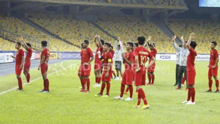 Timnas Indonesia U-16 vs Vietnam U-16 Copyright: © INDOSPORT/Abdurrahman Ranala