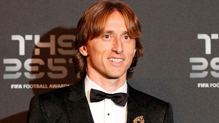 Luka Modric masuk ke daftar pemain impian AC Milan. Copyright: © Getty Images