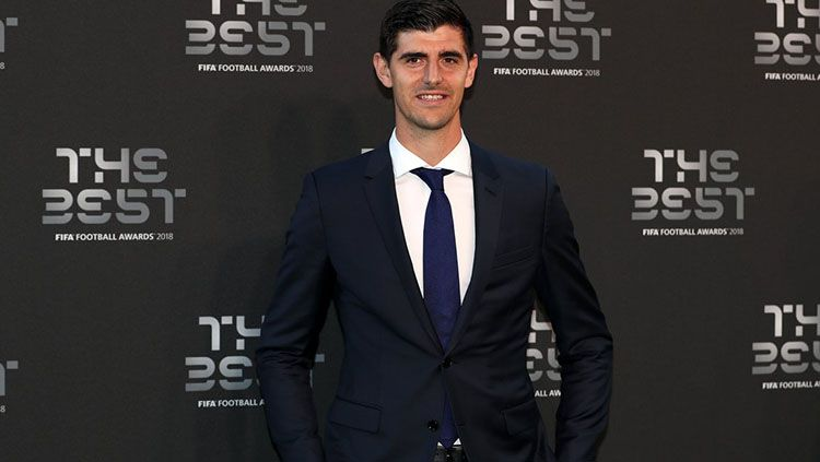 Thibaut Courtois di acara FIFA The Best 2018. Copyright: © Getty Images