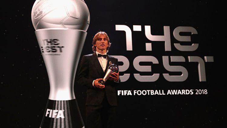 Luka Modric' terpilih sebagai pemain terbaik FIFA Copyright: © Getty Images
