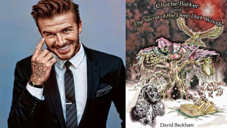 David Beckham dan Bukunya, Charlie Barker and Deep Dark Woods Secret. Copyright: © Sokkaa