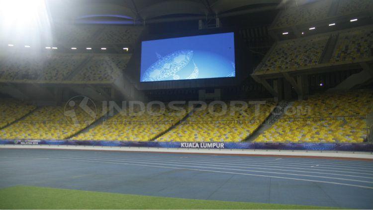 Situasi Stadion Bukit Jalil, Malaysia. Copyright: © Abdurrahman Ranala/INDOSPORT