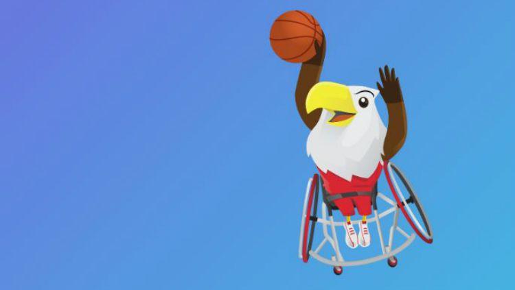 Bola basket di Asian Para Games 2018. Copyright: © Asian Para Games 2018