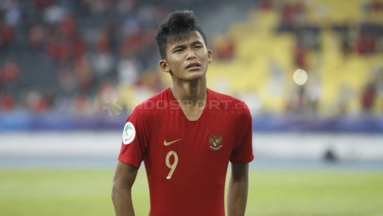 Penyerang muda Persija Jakarta, Sutan Diego Zico, mendapat panggilan untuk mengikuti seleksi bersama Timnas Indonesia U-19. Copyright: © Abdurrahman Ranala/INDOSPORT
