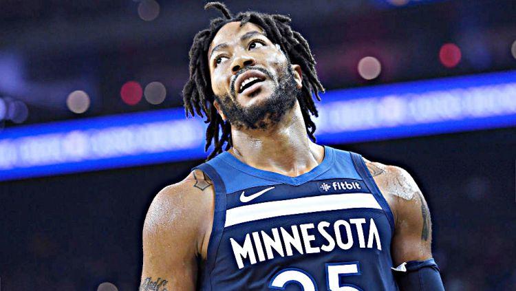 Derrick Rose yang pindah ke Detroit Pistons memiliki target bisa meraih gelar juara NBA 2019/20. Copyright: © Getty Images