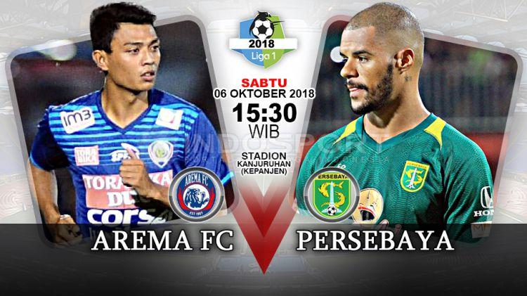 Arema Vs Indonesia: Prediksi Pertandingan Liga 1 2018: Arema Vs Persebaya