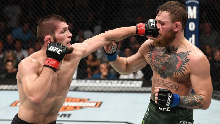 Khabib Nurmagomedov vs Conor McGregor. Copyright: © Indosport.com