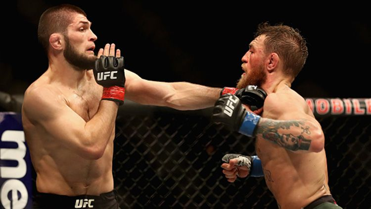 Bos Ultimate Fighting Championship (UFC), Dana White siap menggelar pertarung Mixed Martial Arts (MMA) jilid 2 antara Khabib Nurmagomedov vs Conor McGregor. Copyright: © Getty Images