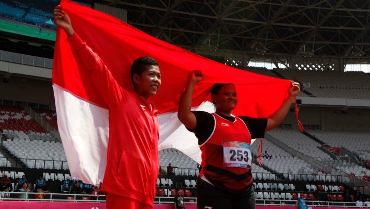 Suparniyati, penyumbang medali emas kedua untuk Indonesia di Asian Para Games 2018. Copyright: © asianparagames2018.id