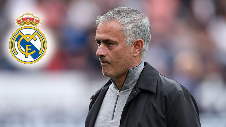 Jose Mourinho, pelatih Man United diminati oleh Real Madrid. Copyright: © INDOSPORT