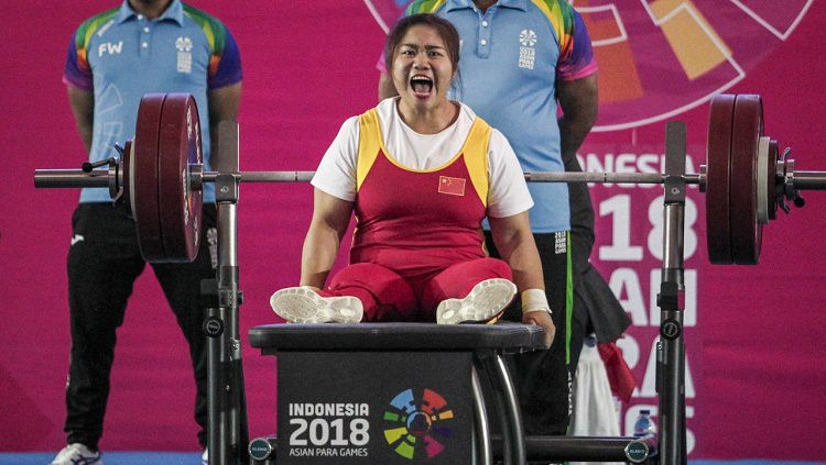 Tan Yujiao catatkan rekor dunia angkat berat di Asian Para Games 2018 Copyright: © Asian Para Games