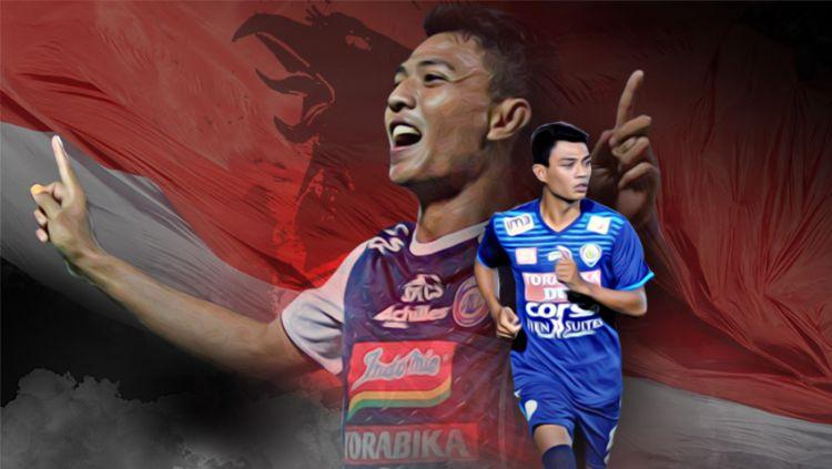 Dedik Setiawan pemain sepak bola Arema FC. Copyright: © Grafis:Yanto/Indosport.com