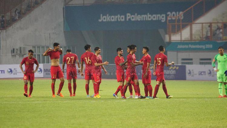 Selebrasi pemain Timnas Indonesia. Copyright: © Herry Ibrahim/Indosport.com