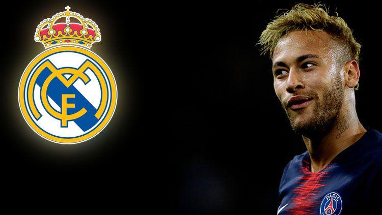 Neymar Jr dilaporkan tertarik ke Real Madrid sejak kecil. Copyright: © INDOSPORT