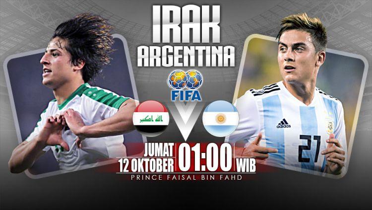 Prediksi Irak vs Argentina. Copyright: © Indosport.com