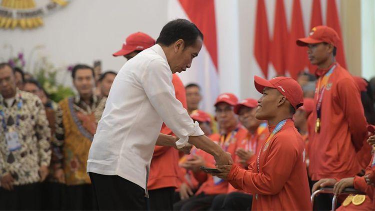 Momen penghargaan atlet Asian Para Games 2018 Copyright: © Kemenpora