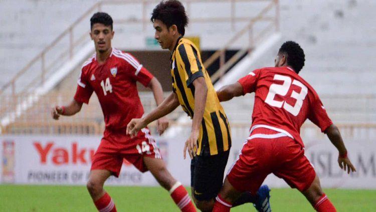 Timnas Malaysia U-16 versus Uni Emirat Arab. Copyright: © The-AFC.com