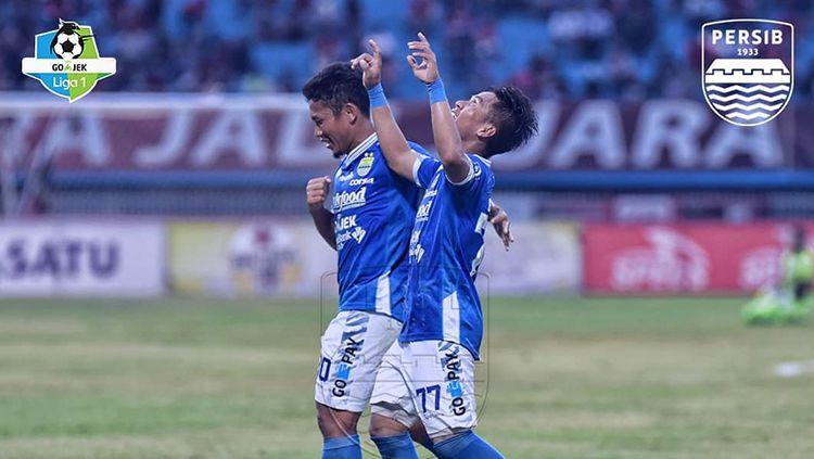 Aksi selebrasi pemain Persib Bandung. Copyright: © Persib Bandung