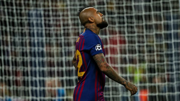 Arturo Vidal, pemain Barcelona. Copyright: © Getty Images