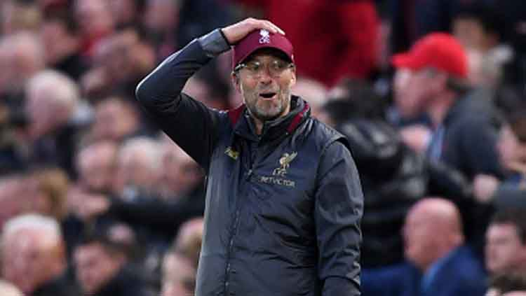 Jurgen Klopp, pelatih Liverpool memilih fokus untuk menghadapi Huddersfield ketimbang Barcelona. Copyright: © INDOSPORT