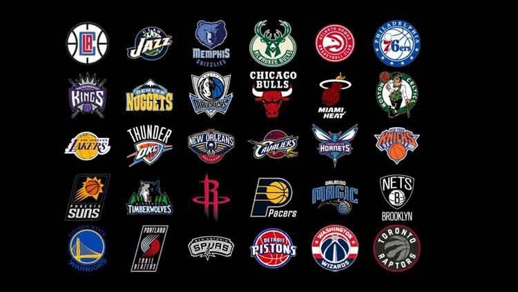 Logo Tim-tim NBA. Copyright: © Wallpaper Cave