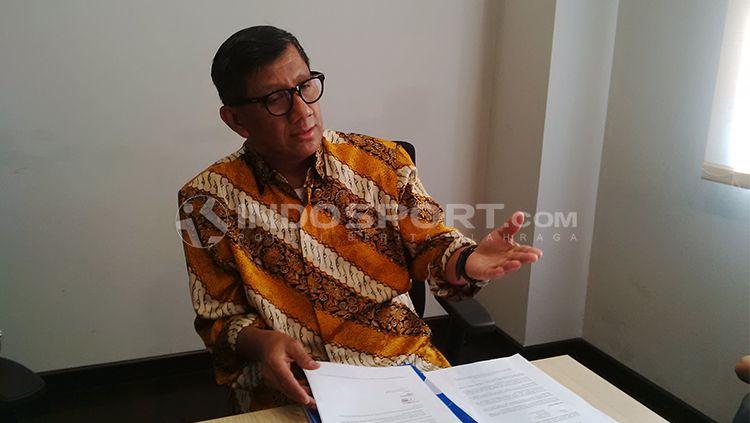 Kuswara S Taryono, komisaris PT PBB. Copyright: © INDOSPORT/Arif Rahman