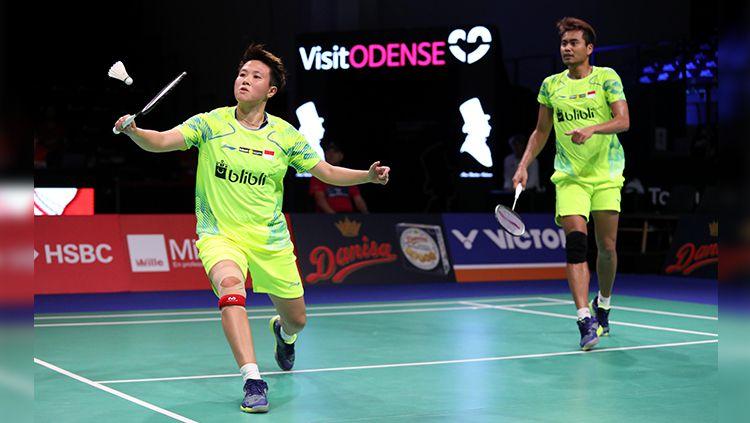 Tontowi Ahmad/Liliyana Natsir saat tampil pada Danisa Denmark Open 2018. Copyright: © Humas PBSI