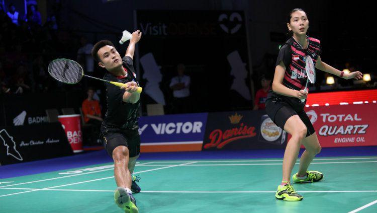 Hafiz Faizal dan Gloria Widjaja sukses lolos ke World Tour Finals 2019 setelah mendapat bantuan dari kekalahan Malaysia, Soon Huat Goh/Shevon Jemie Lai. Copyright: © PBSI