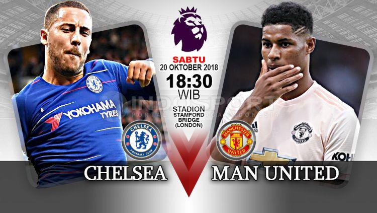 Chelsea vs Manchester United. Copyright: © Indosport.com