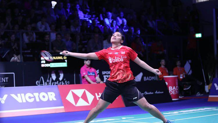 Gregoria Mariska Tunjung di ajang Denmark Open 2018. Copyright: © HUMAS PBSI