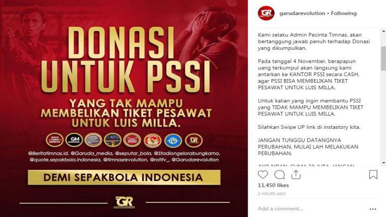 Akun instagram @garudarevolution buat gerakan Copyright: © instagram/garudarevolution