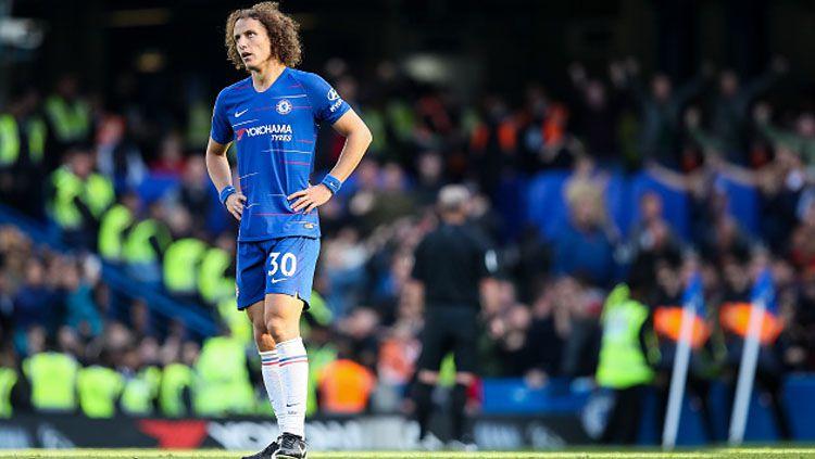 David Luiz, saat masih menjadi Bek tengah Chelsea. Copyright: © Getty Images