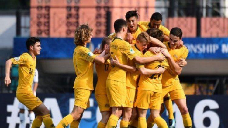 Timnas Australia U-19 Hanya Butuh 1 kemenangan lagi untuk lolos ke perempatfinal Piala Asia U-19 2018. Copyright: © AFC